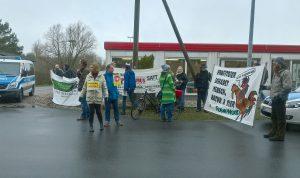 Blockade bei Wiesenhof - Foto Peter Schöpl